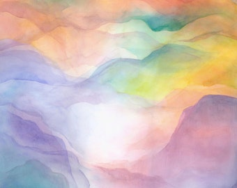 Watercolor Veil - Print - Mountains of Home