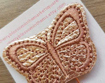 Butterfly Paper Clip in Rose Gold