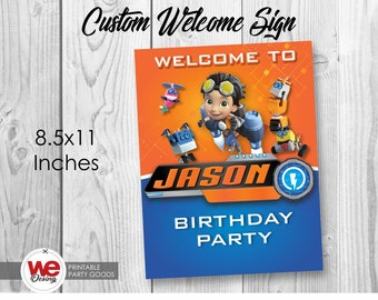 Rusty Rivets welcome sign,Rusty Rivets party,Rusty Rivets invite,Rusty Rivets birthday