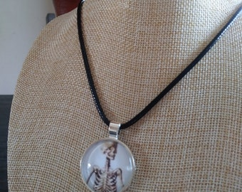 Old Anatomy Skeleton Necklace