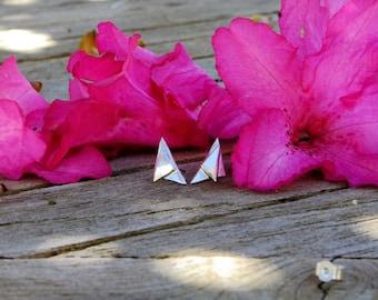 Earrings in silver - Triangles - KkumArt