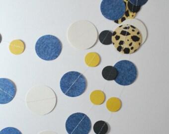 Wild Jean Paper Garland, leopard garland, bunting, modern, leopard party, leopard bridal shower, leopard decoration, leopard nursery
