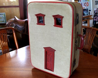 Vintage Suitcase Dollhouse: Upcycled Unique & Super Cute
