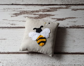 Bumble Bee Pin cushion, sewing, home, accessories, dress making, crafts, gifts, Pear, Fabric, Handmade,