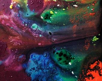 "Stardust IV 16""x20""original acrylic painting on canvas."