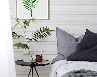 Leaf Art Print, Palm Leaf Art, Tropical Plant Download, Botanical Wall Print, Tropical Decor, Modern Minimalist, Printable Digital Download.