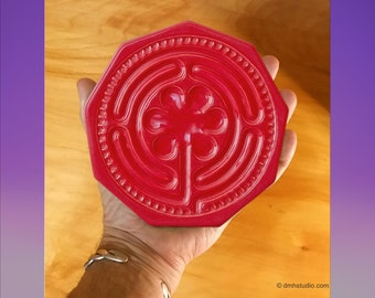 Chartres Finger Labyrinth Baby in Coral Mist