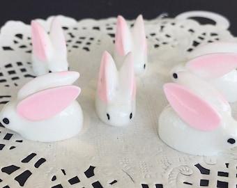 2 pcs.16x20mm.Miniature Cabochon Rabbit,Miniature Rabbit,Miniature animals Cabochon,Resin,Miniature Sweet,Jewelry DIY