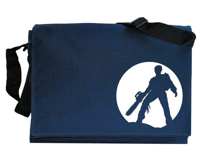 Evil Dead Moon Silhouette Navy Blue Messenger Shoulder Bag