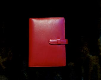 Coach Red Leather Notebook Holder