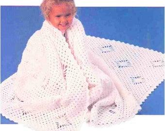 Crochet Pattern  Snowflake Afghan / Instant PDF Digital Download Vintage Knitting Pattern- 958