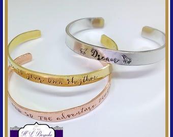 Personalised Cuff Bracelet - Personalised Copper Cuff - You CHOOSE Wording - Personalised Brass Cuff - Personalised Cuff - Custom Cuff