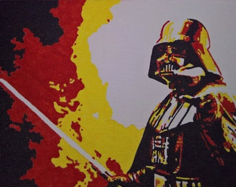 Darth Vader pop art canvas