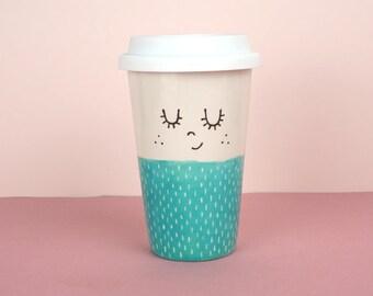 Travel Mug - Ava | Tea & Coffee Travel Mug | Travel Flask | Ceramic Travel Mug | travel mug gift