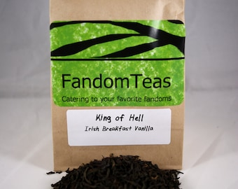 The King of Hell: Supernatural Inspired Vanilla Irish Breakfast Tea Blend