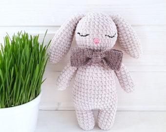 crochet bunny toy plush bunny eco-friendly toy handmade toys  Baby Shower handmade bunny interior toys plush toy crochet bunny toy