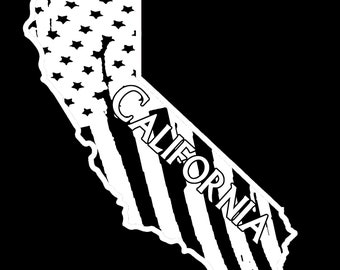California State Flag Decal