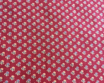 waverly cotton duck red fabric with floral print home seasons Free shipping