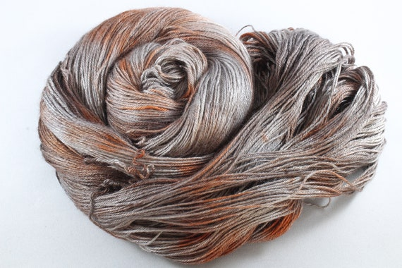 Hand Dyed Sock Yarn, 4ply, Plus Size Skein, 150g/600m, BFL and Silk - Rustbucket