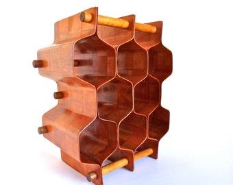 Torsten Johansson Bentwood Honeycomb Wine Rack