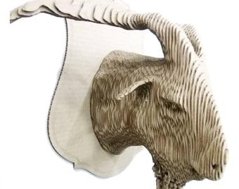 Cardboard Goat  head mount