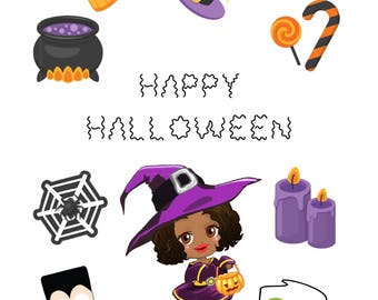 Happy Halloween Sticker Sheet