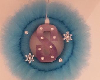 Personalised tutu wreath