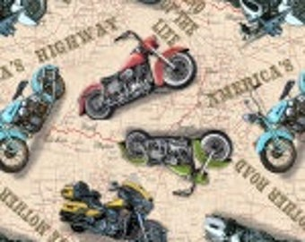 """American Dream Motorcycles, Blank Textile 45"""" wide"""