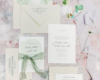 Sycamore Wedding Invitation Suite