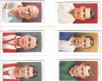 Complete Set of 50x Original Cigarette / Tobacco Cards - 'ASSOCIATION FOOTBALLERS' by Wills c1935