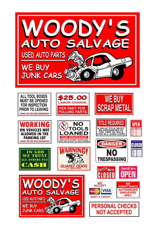 Junk Yard Signs poster salvage yard