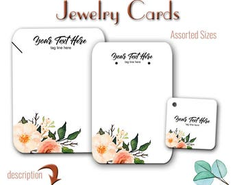 Earring Cards, Jewelry Card, Custom Card, Tags, Product Tags, Necklace Tags, Labels, Necklace Display, Earring Display