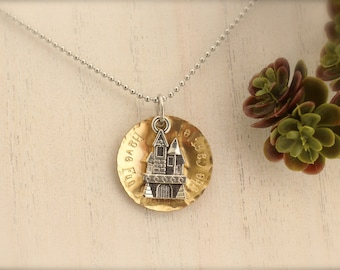 Princess Bride Inspired Castle Charm Necklace