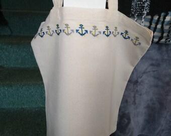 Anchor design shopper bag