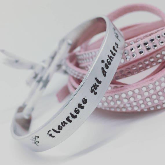 GIFT idea Personalized Bracelet ★ ★ personalized Liberty end cuff Bangle Silver Ribbon ★ ★