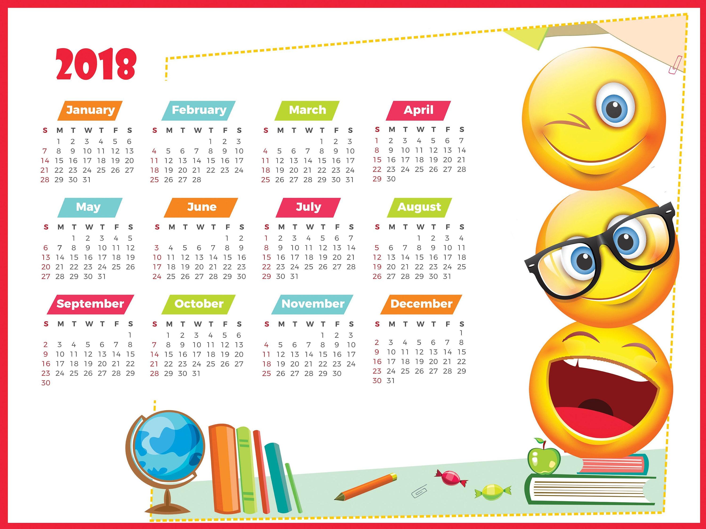 Calendar Kids 2018 : Large calendar wall new