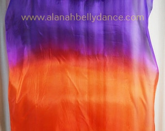 Florescent Fan Veil Set (2) Electric Violet/Hot Orange