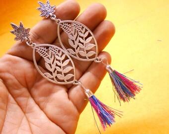 Nepali Traditional .925 Silver Plated Beautiful Bohomeian Jhumkia Jhumki Earring SER917