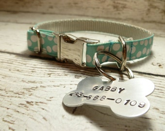 Hand Stamped Dog Tag, Personalized with Name and Phone Number, Custom Dog Tag, Pet Lovers Gift, Dog Mom, Dog Dad