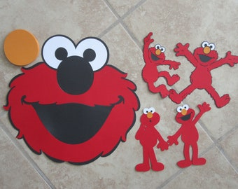 ELMO 5pc Die Cut Set Includes: Large Pin the Nose on Elmo Game