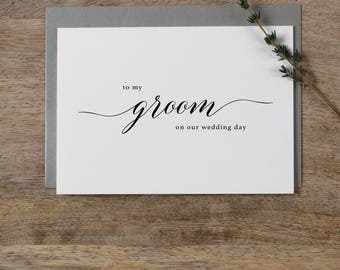 To My Groom On Our Wedding Day, I Can't Wait To Marry You, Wedding Card to Groom, Wedding Day Card, Wedding Cards, Future Husband Card, K2