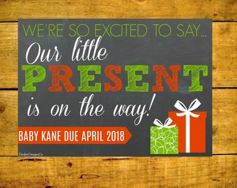 New Baby Sign, Pregnancy Reveal, Baby Announcement, Christmas Baby, Pregnancy Printable, Christmas Reveal, Printable Chalkboard