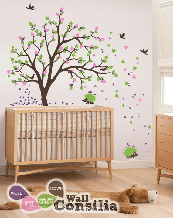 baby kinderzimmer wandtattoo baum wand aufkleber wand. Black Bedroom Furniture Sets. Home Design Ideas