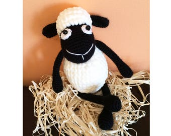 Amigurumi crochet sheep toy,black sheep,crochet stuffed animal toy,handmade toy lamb,plush sheep,baby shower gift,Baby toy,Easter home decor