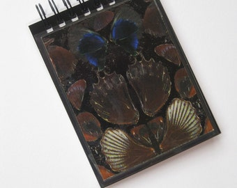 Damien Hirst A7 (8 x 11 cm) spiral-bound notebook made with genuine butterfly print wallpaper.