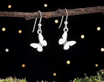 Sterling Silver Butterfly Earrings - Small, Double Sided - Sweet and Simple
