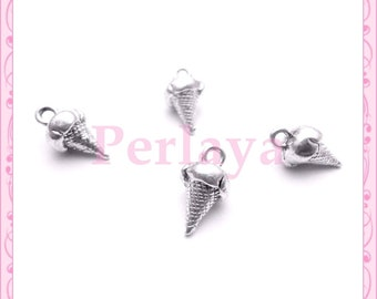 Set of 15 charms silver ice REF688X3