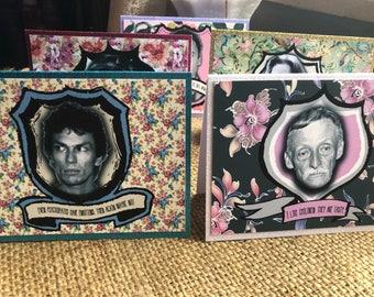 Serial Killer Note Cards Set of 8 Ted Bundy, Albert Fish, Ed Kemper