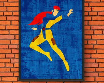 Minimalism Art - Jean Grey/Marvel Girl Print