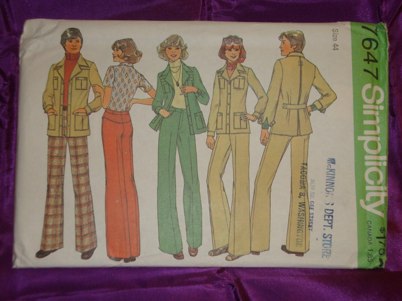 1970s 70s Vintage Mens Leisure Suit Unlined Jacket n Back ...
